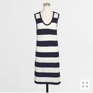 NWT J.crew blue & white stripped dress S